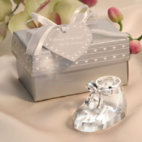 Crystal Baby Shoe Favour